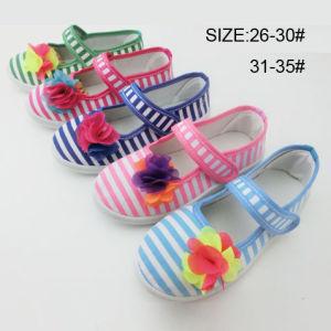 Latest Design Cheap Girl Shoes Dance Shoes Canvas Shoes (HH150702-9) pictures & photos