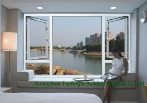 Thermal Break Aluminum Casement Window with CE Approved Double Glazed Glass As2047 Window Grill Design pictures & photos