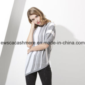 Lady′s Top Grade Pure Cashmere Knitwear with Stripes