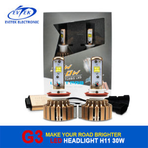 Evitek Golden G3 30W 3000lm H11 CREE LED Headlight Bulbs for Cars pictures & photos