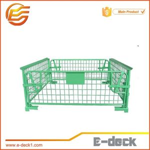 Warehouse Stackable Steel Wire Mesh Cages Pallet