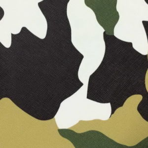 Camouflage Printed Leather Faux Leather Fabric for Sofa Furniture (805#) pictures & photos