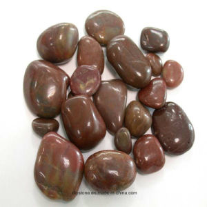 Red Polished River Stone Decoration pictures & photos