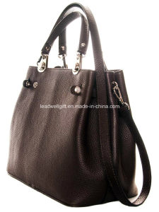 Fashion Handbags PU Leather Woman Tote Bag with Silver Hardware pictures & photos