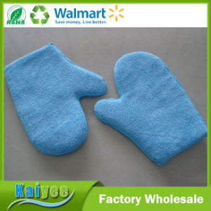 Micro Fiber Thumb Car Cleaning Gloves with a Yellow Face Blue pictures & photos