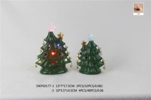 Ceramic Green Christmas Tree Decoration pictures & photos