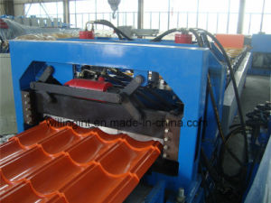 Glazed Steel Tile Wall Panel Roll Forming Machine with Servomotor pictures & photos