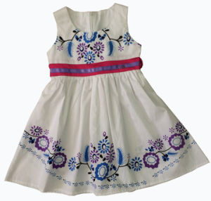 Fashion Solid Color Girl Dress, Popular Children Clothing (SQD-133) pictures & photos