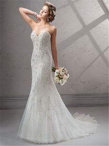 Beaded Embroidery Mermaid Bridal Wedding Dresses, Customized pictures & photos