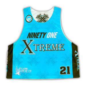 Light Weight Lacrosse Pinnies Full Sublimation/High Quality Lacrosse Sublimated Jerseys pictures & photos
