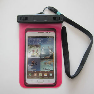 Eco-Friendly PVC Mobilephone Waterproof Bag with Lanyard pictures & photos