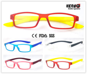 Soft Rubber Painting Reading Glasses with Spring Hinge Kr5094 pictures & photos
