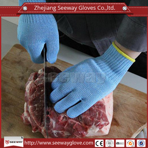 Seeway High Quality blue Meat Process Gloves