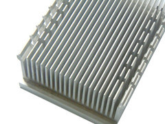 Aluminium Heatsink Extrusion for Electronics with CNC Machining (ISO9001 certificated) pictures & photos