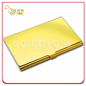 Custom Shiny Gold Printed Stainless Steel Card Holder pictures & photos