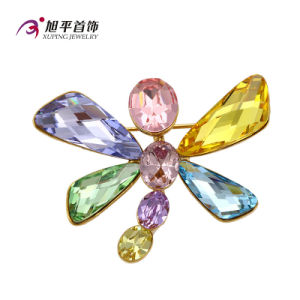 Xuping Fashion Fancy Rhodium -Plated Crystals From Swarovski Brooch From Jewelry Dragonfly Animal -Shaped Jewelry Brooch -X0421005 pictures & photos