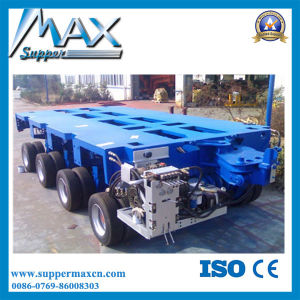 High Tensile Steel Semi Trailer Type 2/3/4 Axles Hydraulic Gooseneck Detachable 80-150 Tons Low Bed Semi Trailer pictures & photos