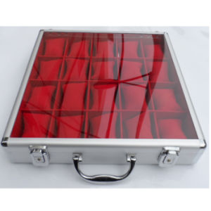 Aluminium Watch Box with Transparent Top Lid pictures & photos