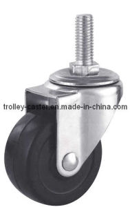 3 Inch Hard Rubber Caster with Threaded Stem pictures & photos