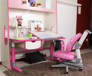 Height Adjutable Child Student Computer Table Set MDF Children Furniture pictures & photos