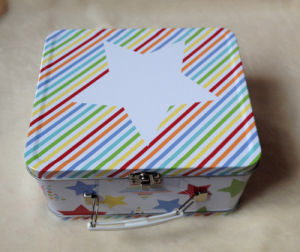 Tin Lunch Box with Plastic Handle pictures & photos