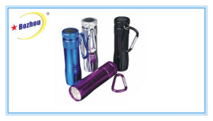 Bozhou 2016 New Design LED Purple Light UV Flashlight, with Batteries in Flashlight pictures & photos