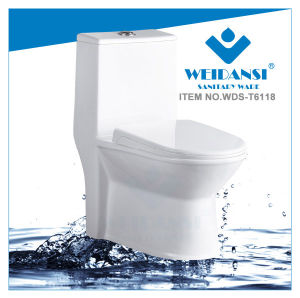 Weidansi Ceramic Siphonic S-Trap One Piece Toilet (WDS-T6118)