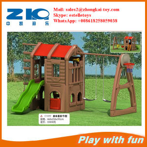 Plastic House with Slide Swing on Sell pictures & photos