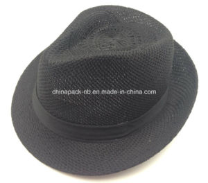 100%Polyester Black Fedora Hats for Promotional (CPA_60243) pictures & photos
