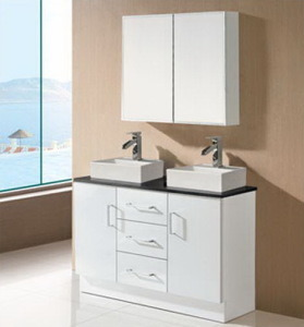 Sanitary Ware Double Basin Bathroom Vanity (SK17-1200W-D) pictures & photos