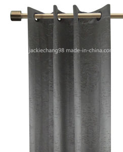 Solid Color Embossed Grommet Panel Window Curtain (HR14WT140) pictures & photos