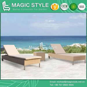Nes Design Sling Sunlounger Textile Sunbed Sling Daybed Garden Furniture (Magic Style) Foshan pictures & photos