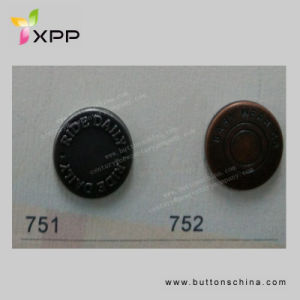 17mm New Style Metal Coin Button pictures & photos