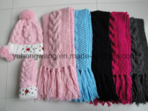 Fashion Kid′s Winter Warm Knitted Acrylic Set