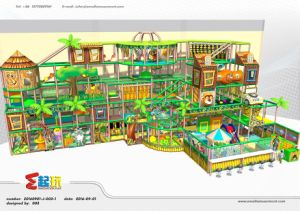 TUV Certified Jungle Themed Indoor Playground for Children pictures & photos