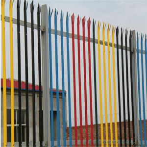 Hot Sale PVC Coated Garden Palisade Iron Fence for Security Barrier pictures & photos