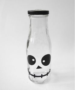 Factory Wholesale Price Decal Glass Beverage Milk Bottle pictures & photos