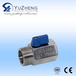 Stainless Steel Threaded BSPT Mini Ball Valve pictures & photos