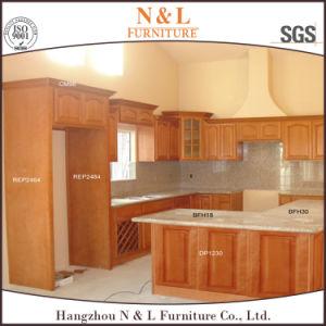 China NL 2016 New Design Solid Wood Kitchen CupboardChina