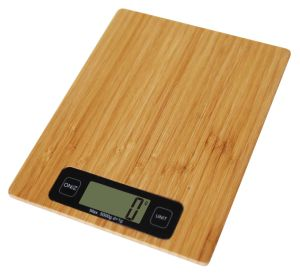 Bamboo Kitchen Scale with PVC pictures & photos