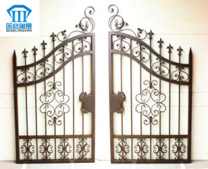 High Quality Crafted Wrought Iron Gate 025 pictures & photos