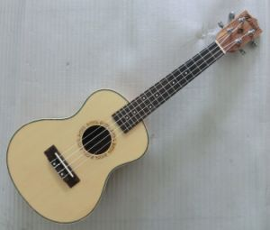 Solid Spruce Ukuele Zebra Wood Back and Sides Ukulele pictures & photos