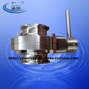 Stainless Steel Sanitary Tri Ferrule Butterfly Valve pictures & photos