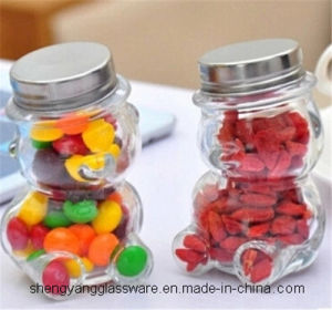 Cute Teddy Bear Glass Jar Candy Jar Glass Storage Bottle Creative Fruit Bottle pictures & photos