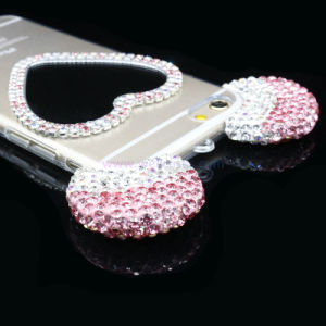 Gradient Heart Shape Mirror Cell/Mobile Phone Cover/Case for iPhone 5/6/6plus pictures & photos