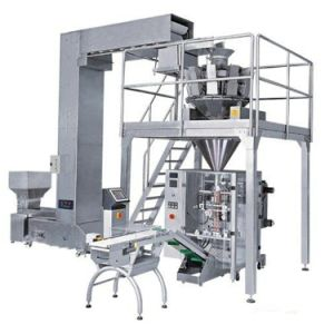 Coffee Beans Rice Sugar Salt Puffed Food Peanut Automatic Packing Machine (HFT-7250D)