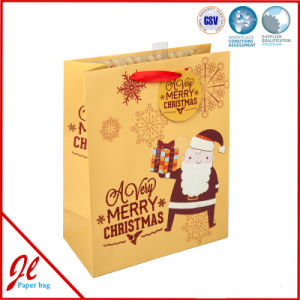 Yellow Christmmas Shopping Paper Bags for Pcaking and Shipment pictures & photos