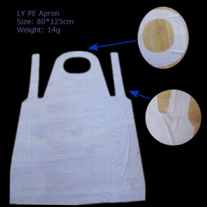 Ly Disposable Plastic White PE Apron pictures & photos