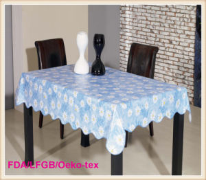 PVC Table Overlay Factory Flower Designs pictures & photos