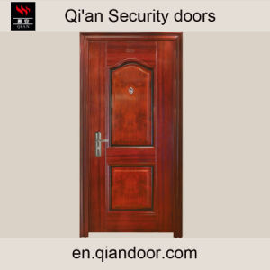 Veneered Steel Front Door with Door Viewer pictures & photos